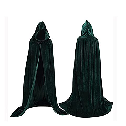 Labellevie Unisex Hooded Cloak Cape Velvet Costume Party Halloween Cosplay