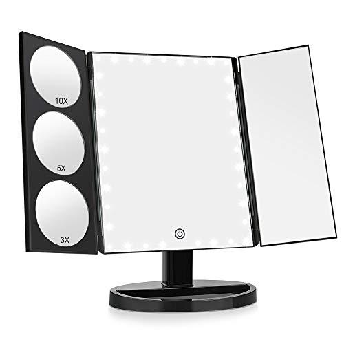 Easehold Verbesserte Beleuchteter Schminkspiegel mit 35 Leuchten Spiegel Vergrößerung 1X / 3X /...