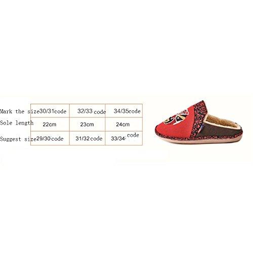 Pantoufles En Coton Pour Enfants Paquet Chaud Avec Pantoufles Antidérapantes Pour Hommes Et Femmes Pantoufles En Bois Pour Maison 3 Couleurs Disponibles Taille Optionnelle (couleur: C, B