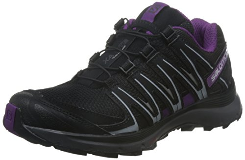 Salomon XA Lite, Zapatillas de Running Para Asfalto Para Mujer, Negro (Black/Magnet/Grape Juice), 39 1/3 EU