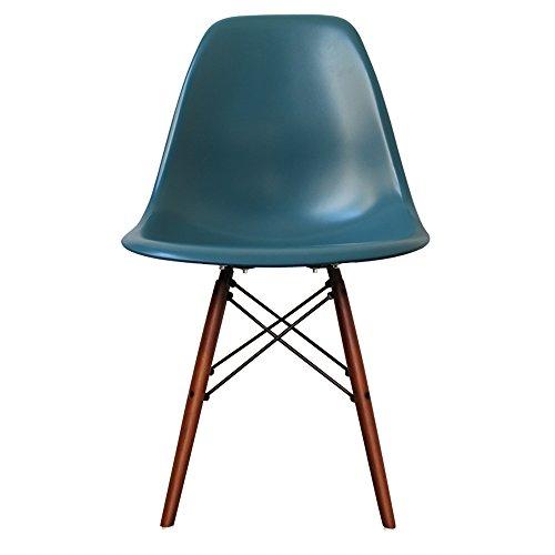 Chaise de salle à manger en plastique avec pieds en bois inspiré de Eiffel  avec style eef2de41241c