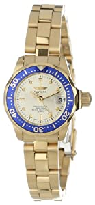 Invicta Mujer 14126 Pro Diver Gold Dial 18k Gold Ion-Plated Stainless Steel Reloj de Invicta