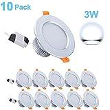 Gr4tec 10x LED Spots Encastrables, Spot Intégrée Lampe de Plafond avec...