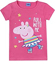Peppa Pig, niñas T-Shirt, Camiseta, Pink