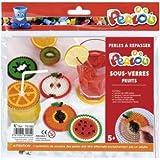 Graine Créative Coffret Perles à Repasser sous-Verres Fruits - Perlou
