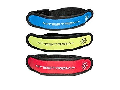 ZNEX LED Armband Leuchtarmband für Sport & Outdoor. Hell leuchtendes LED Jogging Fahrrad Licht Warnlicht Blinklicht für hohe Sichtbarkeit im Dunkeln
