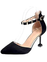 UENGF Tacones Altos Mujer Tacones Delgados Bombas Derss Zapatos Mujeres  Punta Estrecha Tacones Altos Poco Profundos Zapatos del… e3801f3e4b7d