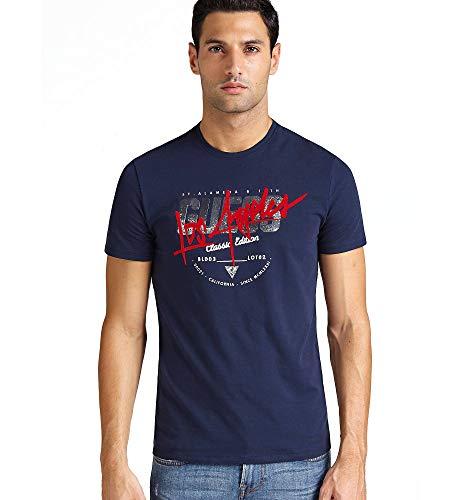 Guess Jeans M83I17J1300 T-Shirt mit Kurtzen Ärmeln Harren BLU G720 2XL