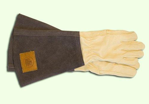 Rosenhandschuh aus Leder mit Stulpe, für Damen