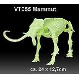 Mammut nachtleuchtend Dinosaurier ca. 24x12cm Schnellbausatz