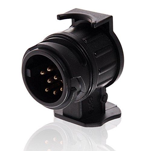Ocamo Mini Stecker Adapter von 13-polig (Fahrzeug) auf 7-polig (Anhänger) 1pc (13 Mini-anhänger)