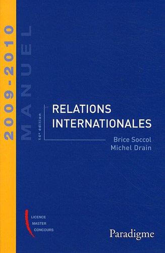 Relations internationales 2009-2010