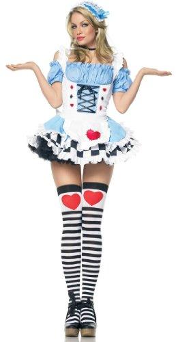Leg Avenue Miss Wonderland Kostüm 2-teilig, 1 (Wunderland Kostüme Miss)