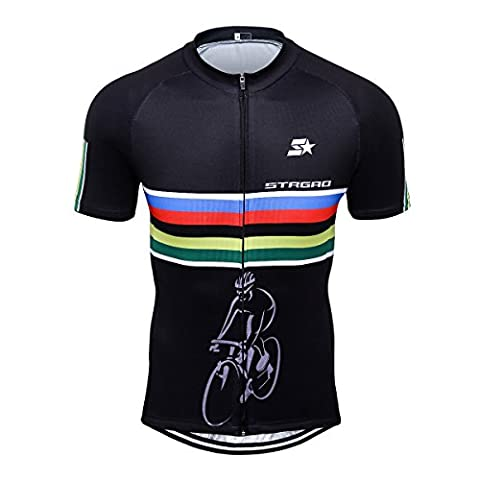 STRGAO Hommes Breathable Cycling Manches Courtes Cycling Jersey Vêtements Riding Sportswear Jacket Bicycle Shirt Size L