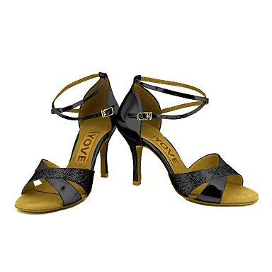 Scarpe da ballo-Personalizzabile-Da donna-Balli latino-americani / Salsa-Tacco su misura-Brillantini-Nero / Blu / Rosso / Argento / Dorato Blue