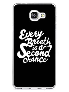 Samsung C7 Cover - Every Breath Is Second Chance - Motivational Quote - 2D Glossy Hard Back Shell Case