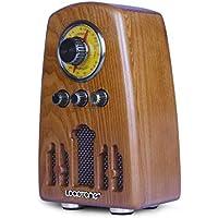 Retro Radio FM/Am de Banda Dual de Madera Maciza de Radio Bluetooth