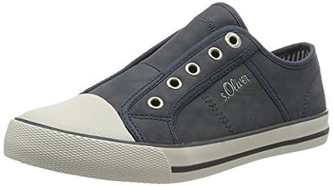 s.Oliver 24626, Women's Low-Top Sneakers, Blue (Denim 802), 5 UK (38 EU)