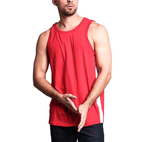 Big And Tall Mesh Polo Shirt (Strungten Mix Herren Tanktop Basic Unifarben Tank Top Tankshirt T-Shirt Unterhemden Ärmellos Muskelshirt Sport Gym Muscle Weste Solid Color Low Cut Bodybuilding Fitness Übung Laufen Outfit Tops)