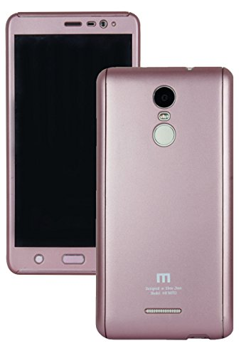 Heartly 2 Pcs Design Double Dip Flip Hard Shell Premium Bumper Back Case Cover For Xiaomi Redmi Note 3 - Rose Gold  available at amazon for Rs.449