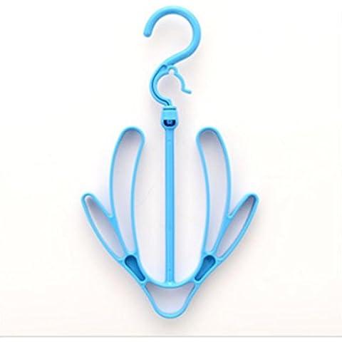 GYMNLJY Appendere scarpiera famiglia pratico doppio gancio Increased ispessimento essiccazione scarpiera Scarpiera appendere (confezione da 5) , blue , 30.5*17.5cm