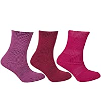 Girls Thermal Socks - Girls, Boys, Thick Knit, Winter Socks, Warm, Comfortable, High Performance, Mixed Pack, 2.45 Tog - Mixed, UK 12.5-3.5 (EU 31-36)