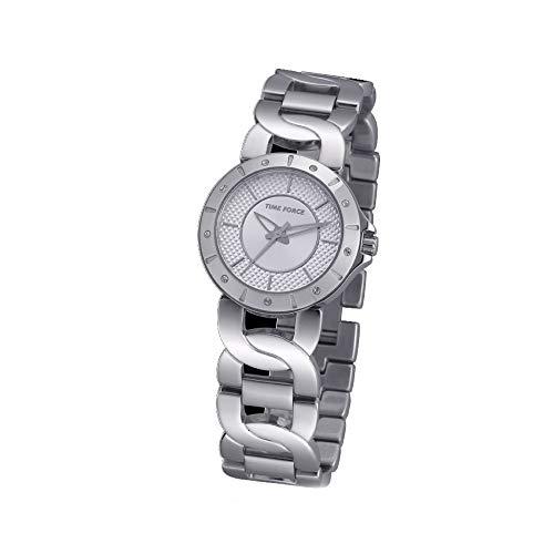 Time Force Reloj Analógico para Mujer de Cuarzo con Correa en Acero Inoxidable TF4000L02M