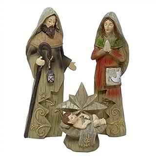 ToCi–XL Figuras de belén (25cm) de la Sagrada Familia, Tradicional Figura de Belén de Navidad, de 3Piezas de polirresina