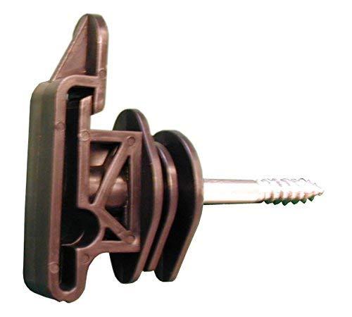 Rutland 30-169R Holzpfahl-Zaunisolator mit Schraube für 12, 40 mm Band und 6 mm Elektroseil