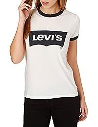 Unbekannt Levis Damen T-Shirt Perfect Ringer Tee 35793-0010 Weiß