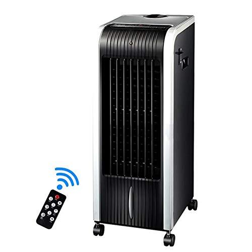 CJC Standventilatoren Klimaanlage 4-in-1 Abweisend Mit Heizlüfter, Luftbefeuchter Luftreinigungsapparat Funktionen, 3 Geschwindigkeiten Mit Oszillation, 8 Stunden Timer Und Wassertank 4,5 Liter Ventil