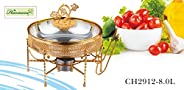 HARMONY GOLD DECAL STAINLESS STEEL CHAFING DISH 8.0L
