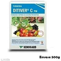 Fungicida cúprico 500g de acción preventiva DITIVER C PM contra mildiu, Alternaria, Antracnosis...