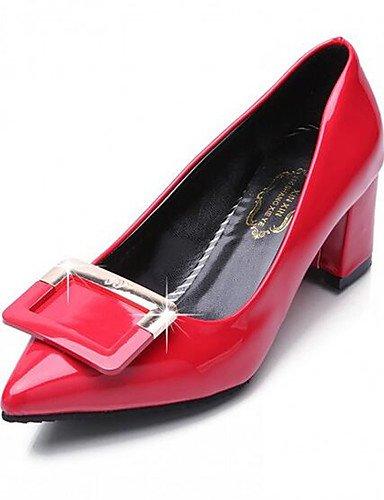 WSS 2016 chaussures pour femmes pu boucle carrée confort / pointu orteil talons mariage / bureau&carrière / partie&chunky soir white-us6 / eu36 / uk4 / cn36