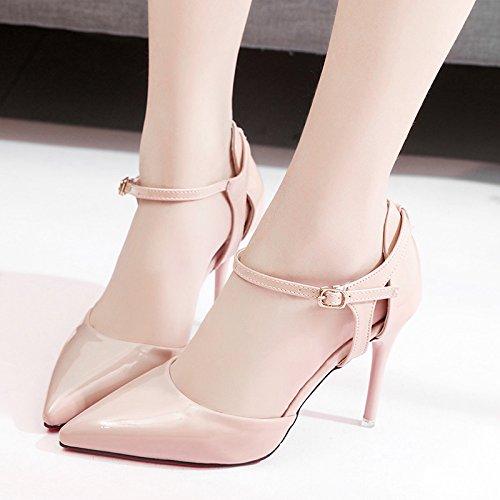 RUGAI-UE Sandali estivi sottili tacchi tacco Scarpe donna Pink