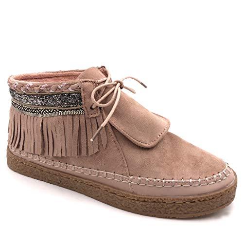 Angkorly - Chaussure Mode Bottine talon compensé -...