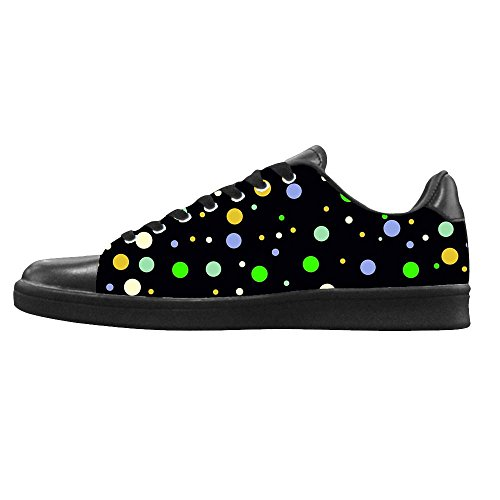 Dalliy polka dots Men's Canvas shoes Schuhe Lace-up High-top Footwear Sneakers A