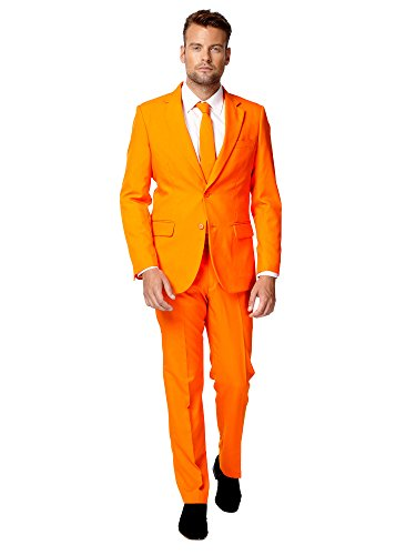 Opposuits Men's The Orange Party Costume Suit with Free Party (Dapper Day Kostüm)