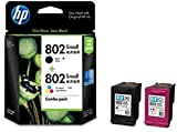 #4: HP 802 Combo-Pack Black & Tri-Color Ink Cartridges (CR312AA)