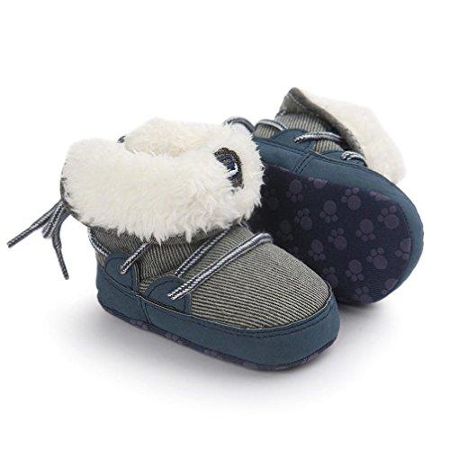 Baby Junge Lauflernschuhe-Omiky® Junge Lauflernschuhe Krabbelschuhe Babyschuhe in verschiedenen Farben Weiche Sohle Stiefel Blau