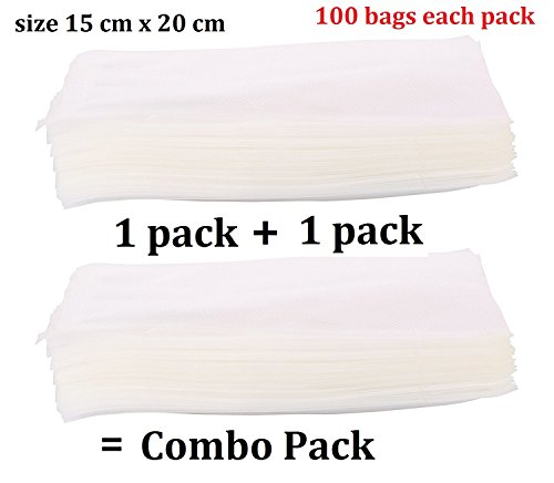 "VACUUM PACKERS Plastic Food Sealers Micowavable Ready Bags (Transparent, 6"" X 8"")"