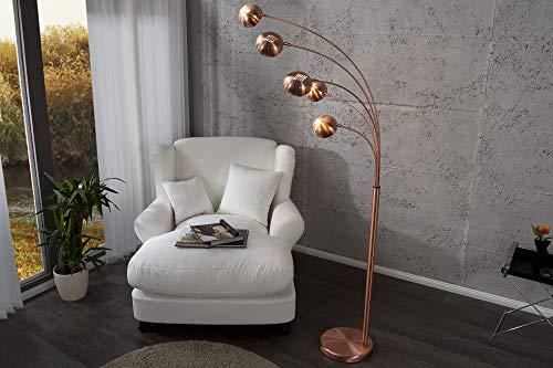 DuNord Design Stehlampe Stehlampe FIVE kupfer 205 cm Bogenlampe