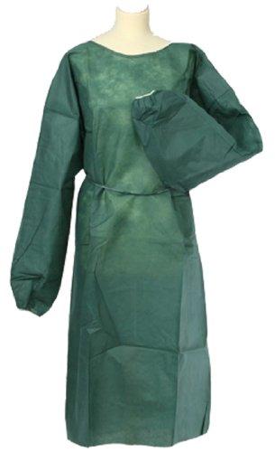 Lot de 100 blouses de protection jetables à usage unique de qualité professionnelle 50 g 125 x 150 cm (Vert foncé)