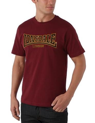 Lonsdale Classic - T-Shirt Sportswear - Homme - Rouge (Bordeaux) -XL (taille fabricant: X-Large)