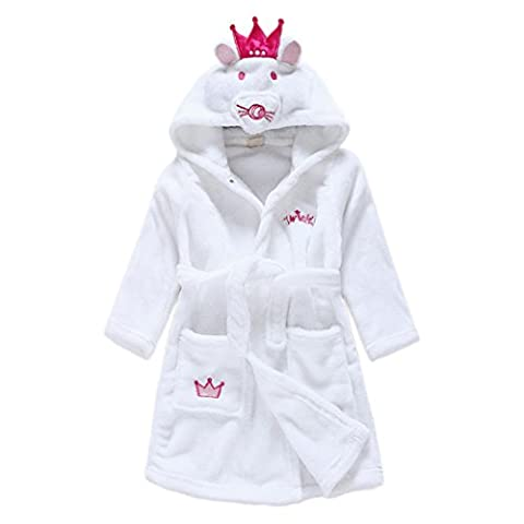 Lydreewam Kinder Bademantel Morgenmantel Korallen Fleece Robe Pyjamas Nachtwäsche für Jungen und Mädchen