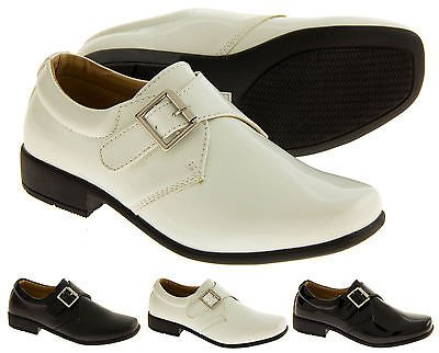 Rsb Monk Cuir Verni Synthétique Chaussures Formelles Garçons