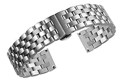 Pulseras de Reloj de Acero Inoxidable Premium de los Hombres Pulseras Anchas de Metal para Relojes de Pulsera de Alta Gama