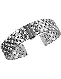 pulseras de reloj de acero inoxidable de alta calidad correas de metal de 24mm de los