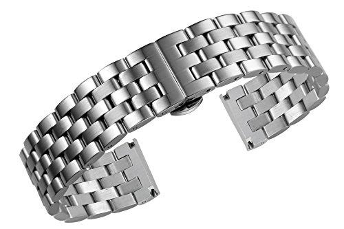 22mm Männer Jubiläums Stil Metall Uhrenarmbänder Bänder Ersatz 316l Edelstahl gerade Ende -