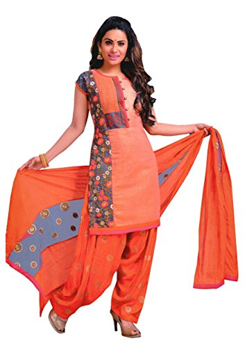 Manmandir Chanderi Silk Partywear Salwar Kameez Readymade with Patiala Bottom